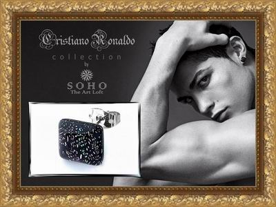 "Мужская серьга - гвоздик ""Cristiano Ronaldo Collection"" by SOHO. The Art Loft"